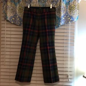 J. Crew low city fit holiday plaid pants 6 NWT